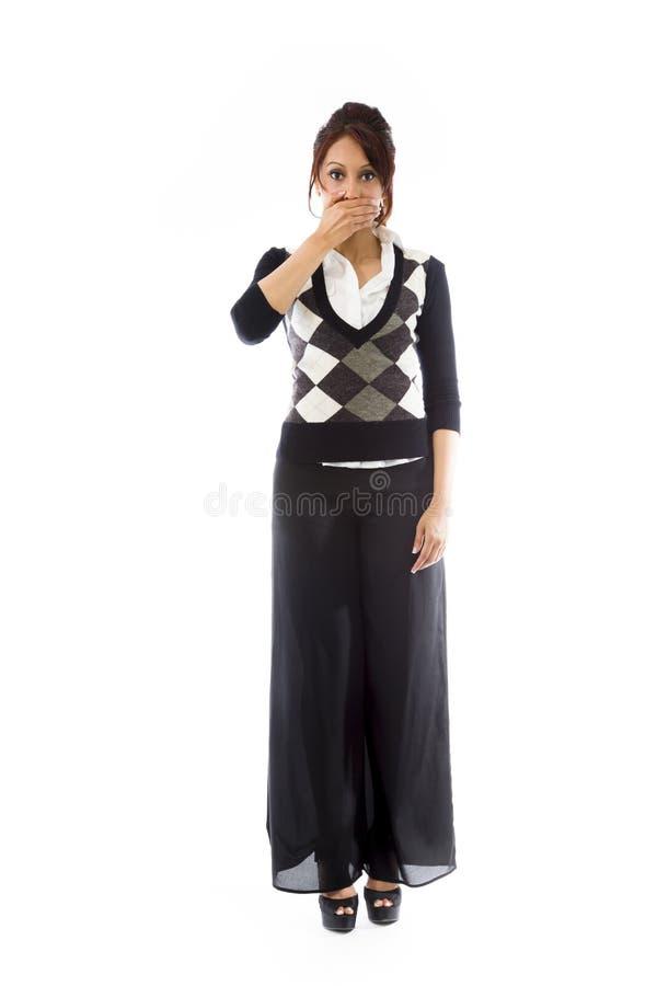 Download Indiańska Młoda Kobieta Z Oddawał Usta Odizolowywającego Na Białym Tle Zdjęcie Stock - Obraz złożonej z osoba, azjata: 41951104