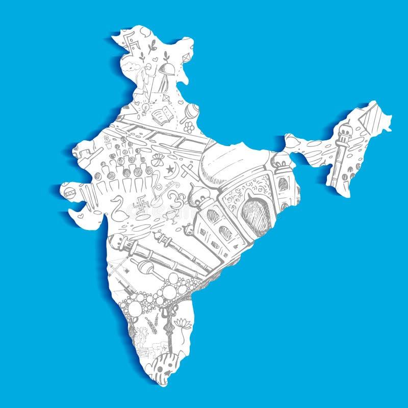 Indiańska mapa royalty ilustracja