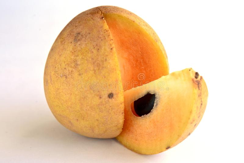Indiańska owoc Chikoo fotografia royalty free