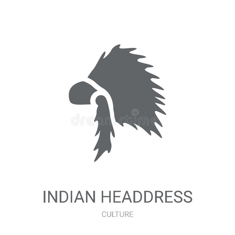 Indiańska pióropusz ikona  royalty ilustracja