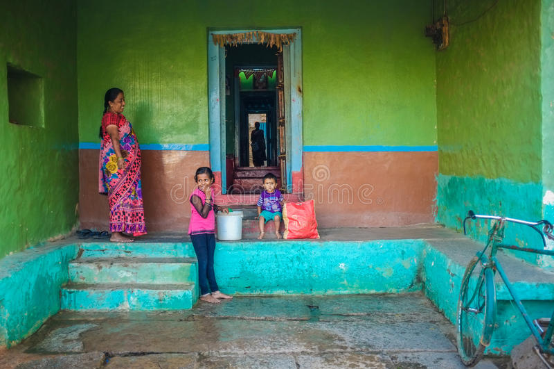 Indiańska rodzina obraz stock