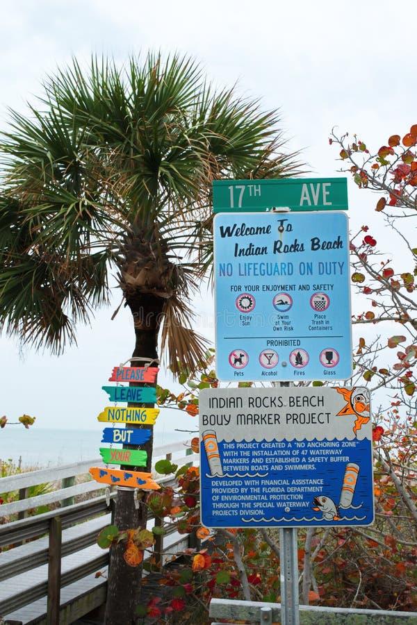 Indiańska skały plaża w Floryda obraz royalty free