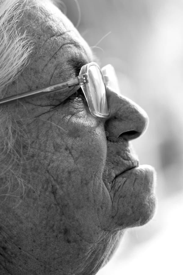 Indiańska stara dama zdjęcia royalty free