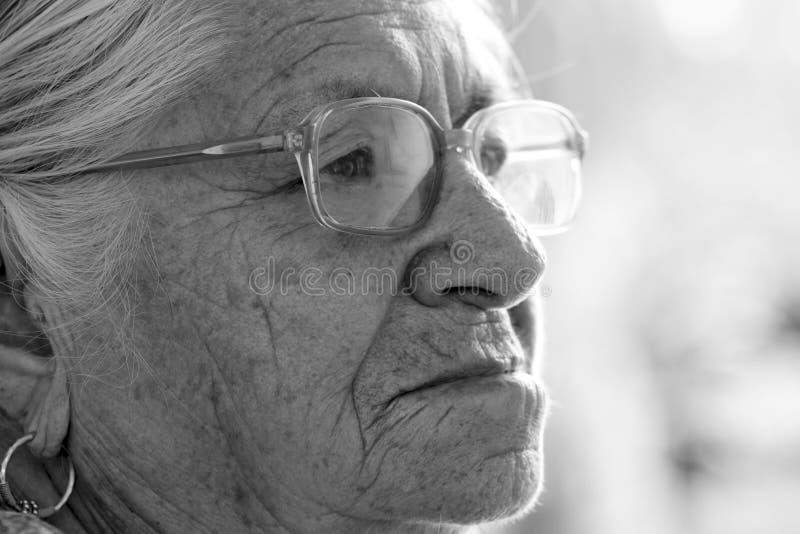 Indiańska stara dama obrazy royalty free