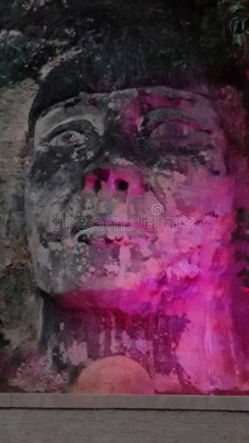 Indiańska twarz, Isabela, Puerto Rico obrazy royalty free