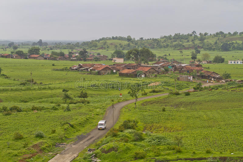 Indiańska wioska w monsunie obraz royalty free