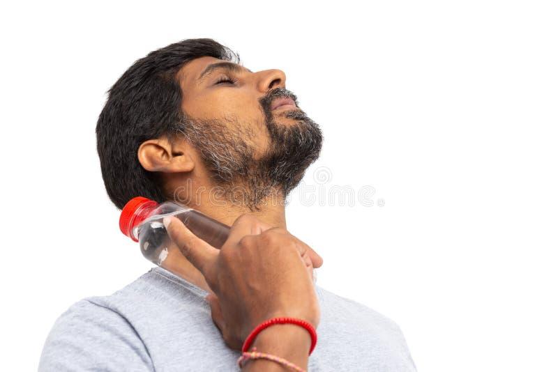 Indiańska wzruszająca szyja z bidonem zdjęcia royalty free