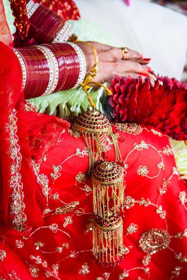 Indiański ślub fotografia royalty free