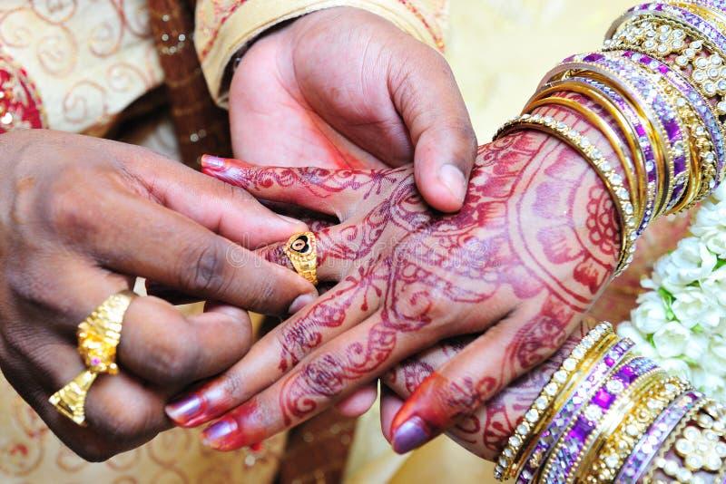 Indiański ślub zdjęcia stock