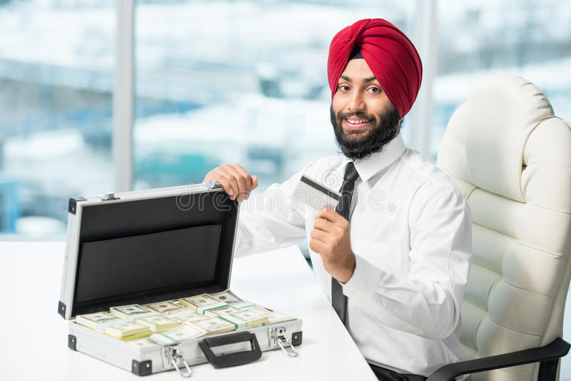 Indiański biznesmen obrazy royalty free