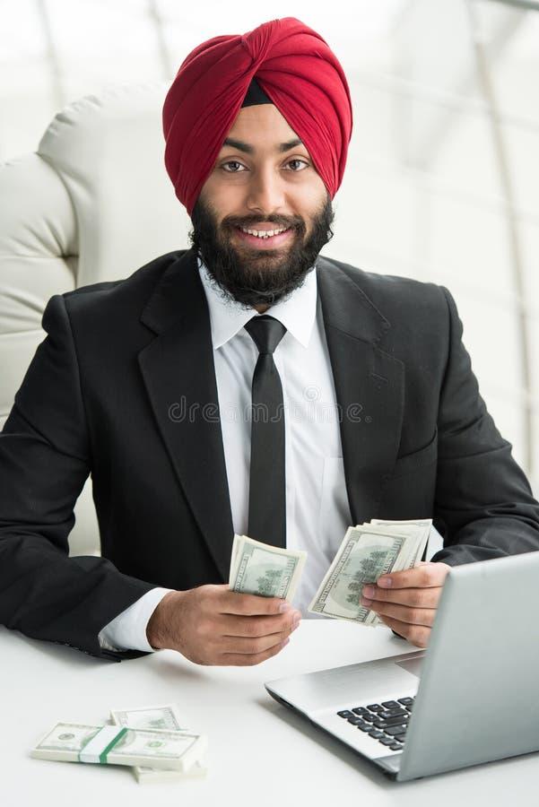 Indiański biznesmen obraz royalty free