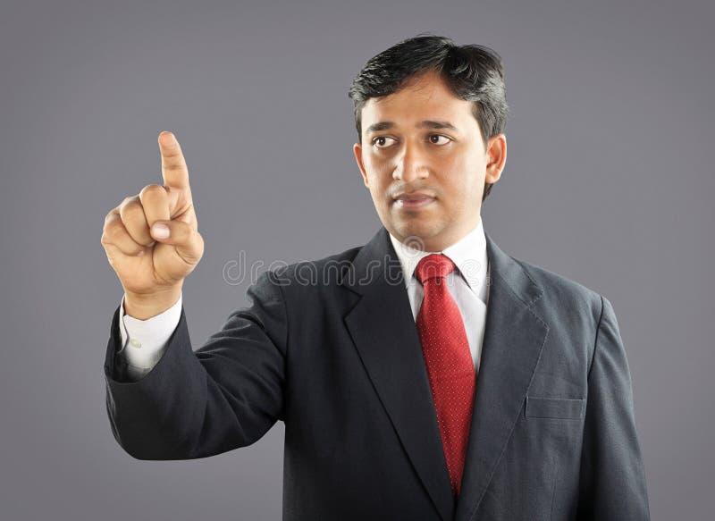 Indiański biznesmen z wyrażeniem zdjęcie royalty free