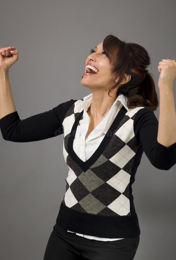 Download Indiański Bizneswoman Odświętności Sukces Zdjęcie Stock - Obraz złożonej z tylko, dorosły: 41950794