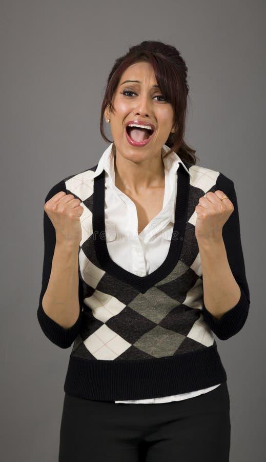 Download Indiański Bizneswoman Patrzeje Udaremniający I Martwiący Się Zdjęcie Stock - Obraz złożonej z facial, hałas: 41950816