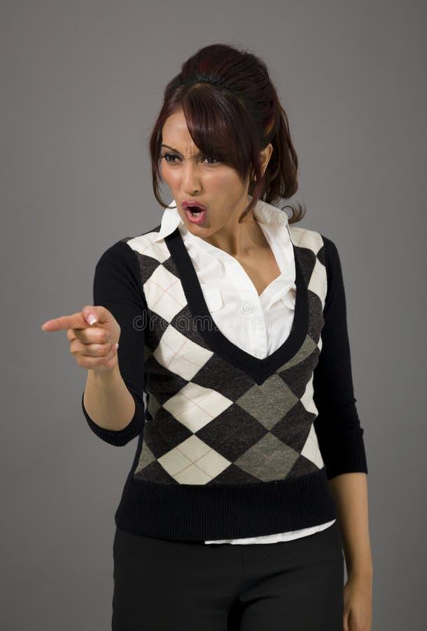 Download Indiański Bizneswomanu łajanie Somebody Zdjęcie Stock - Obraz złożonej z widok, jeden: 41950730