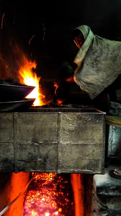 Indiański blacksmith zdjęcie royalty free