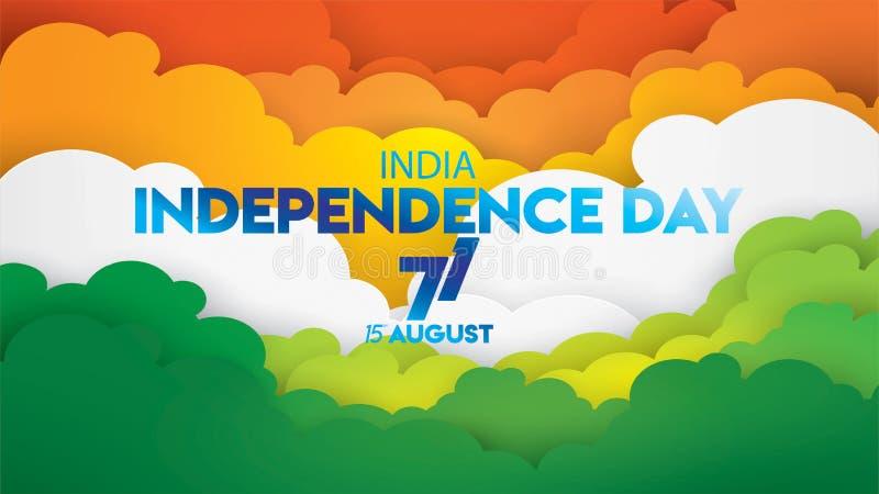 Indiański dnia niepodległości projekt dla tła, sztandar, powitanie lub plakat ilustracji