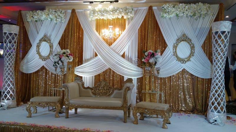 Indiański dzień ślubu przyjęcie obraz stock