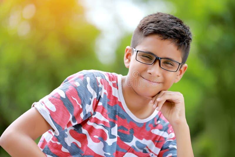 Indiański dziecko na eyeglass obraz stock