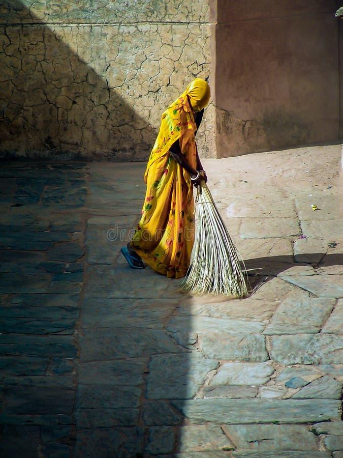 Indiański Żeński pracownik zdjęcie royalty free