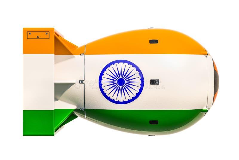 Indiański jądrowej broni pojęcie, 3D rendering ilustracja wektor