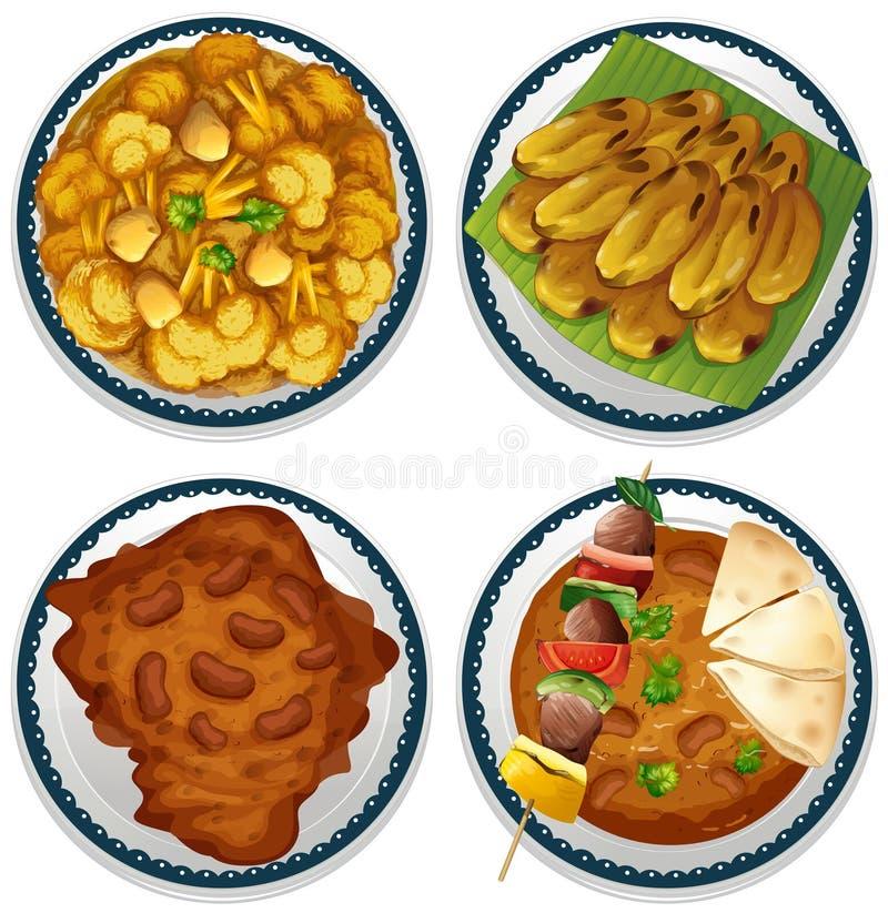 Indiański jedzenie ilustracja wektor