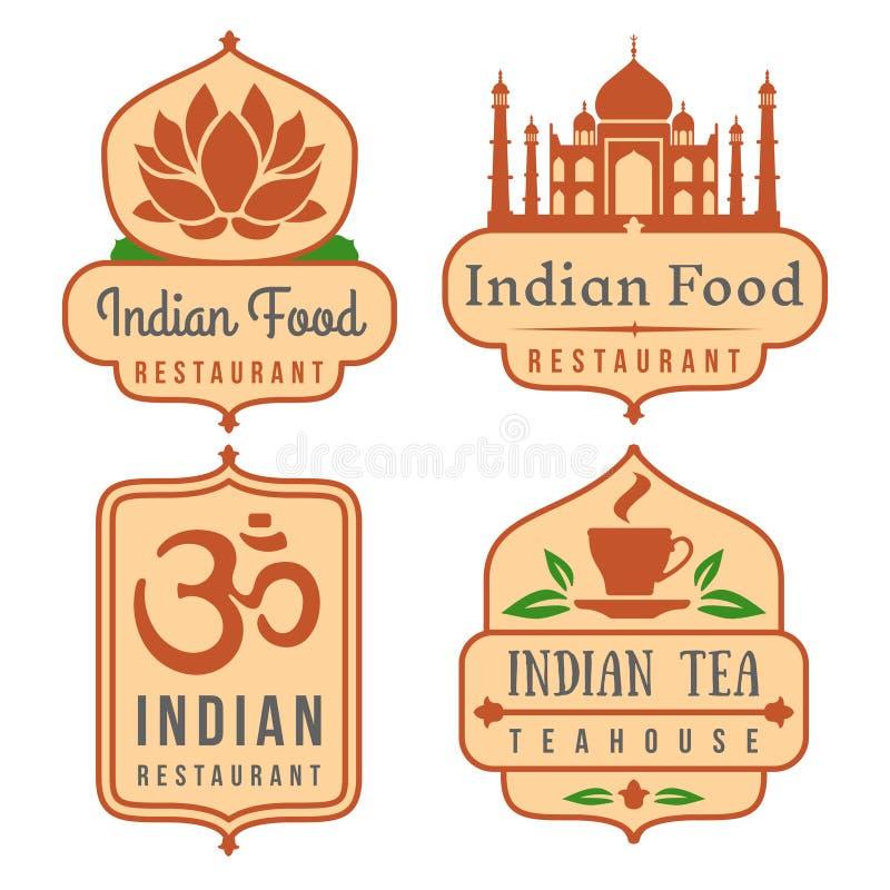 Indiański karmowy wektorowy loga set ilustracji
