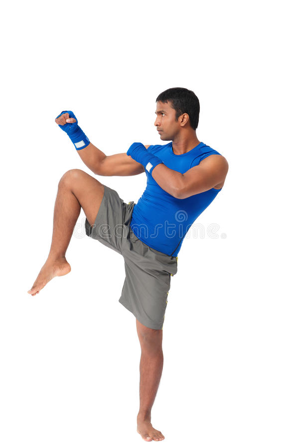 Indiański kopnięcie bokser fotografia stock