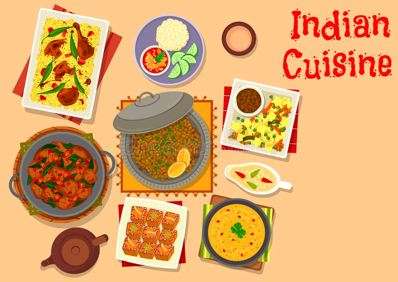 Indiański kuchnia gość restauracji z bania torta ikoną ilustracja wektor