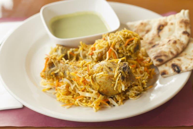 Indiański kurczaka biryani zdjęcia royalty free