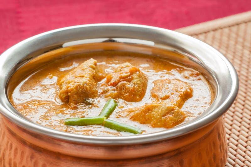 Indiański kurczaka curry'ego zbliżenie zdjęcie stock