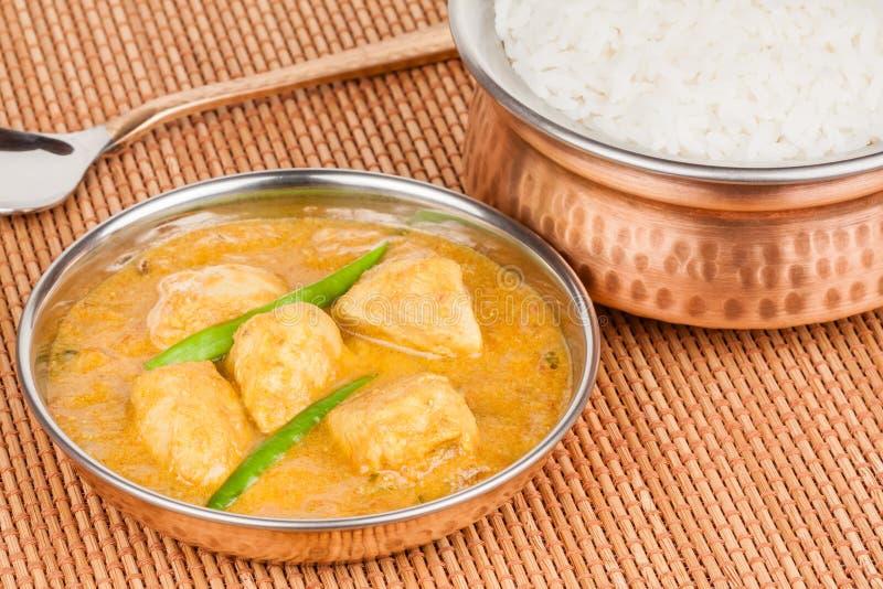 Indiański kurczaka curry z Rice fotografia stock
