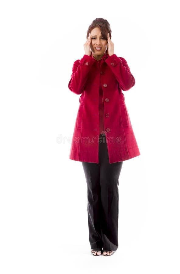 Download Indiański Młodej Kobiety Cierpienie Od Migreny Zdjęcie Stock - Obraz złożonej z wyrażenie, nierady: 41950272