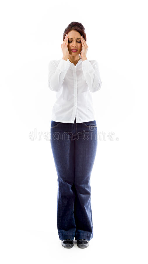 Download Indiański Młodej Kobiety Cierpienie Od Migreny Zdjęcie Stock - Obraz złożonej z strzał, folował: 41951214