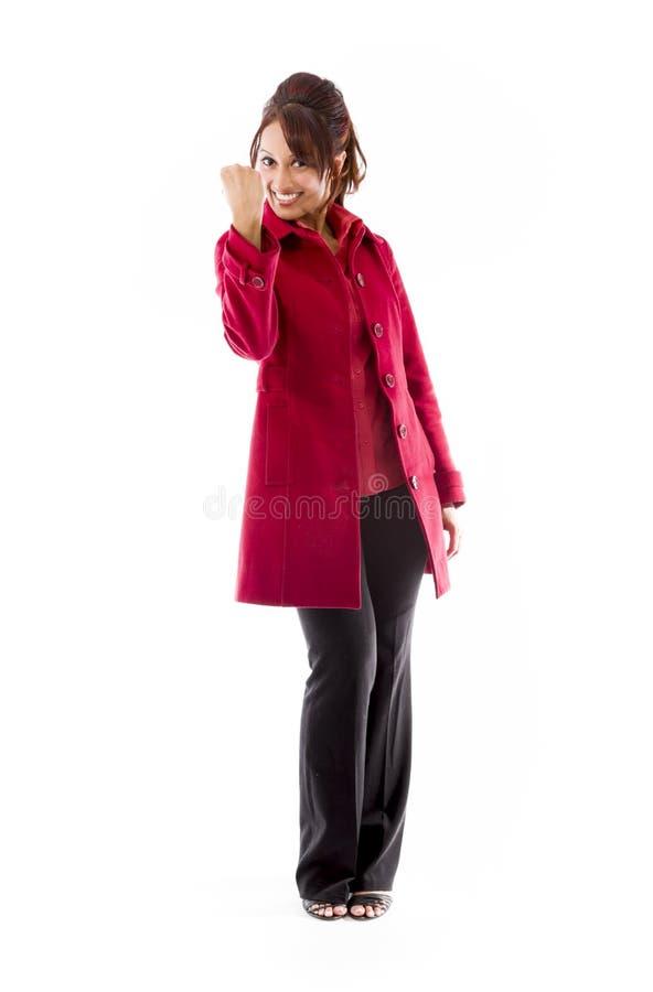 Download Indiański Młodej Kobiety Odświętności Sukces Zdjęcie Stock - Obraz złożonej z powietrze, przyjemność: 41950102