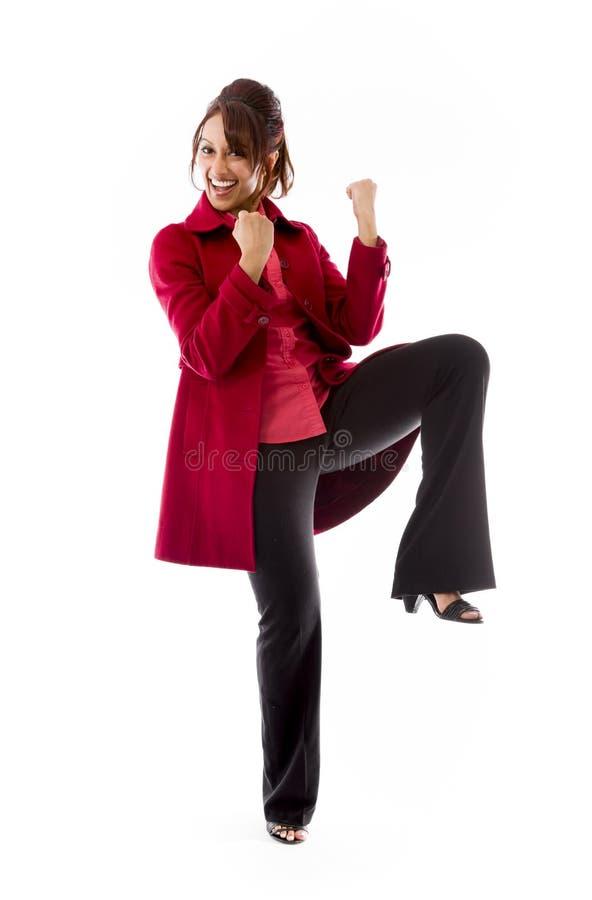 Download Indiański Młodej Kobiety Odświętności Sukces Obraz Stock - Obraz złożonej z sukces, zaufanie: 41950161