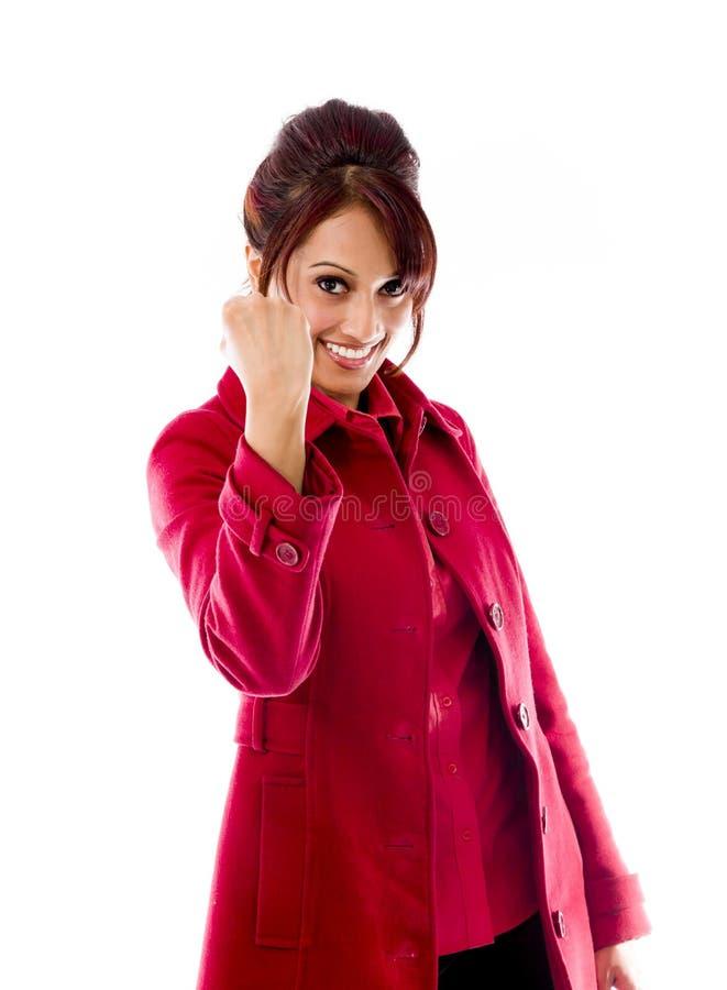 Download Indiański Młodej Kobiety Odświętności Sukces Zdjęcie Stock - Obraz złożonej z wolność, zawartość: 41950314