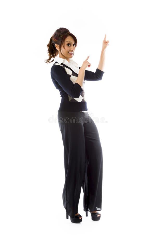 Download Indiański Młodej Kobiety Wskazywać Obraz Stock - Obraz złożonej z fotografia, reklamuje: 41951071