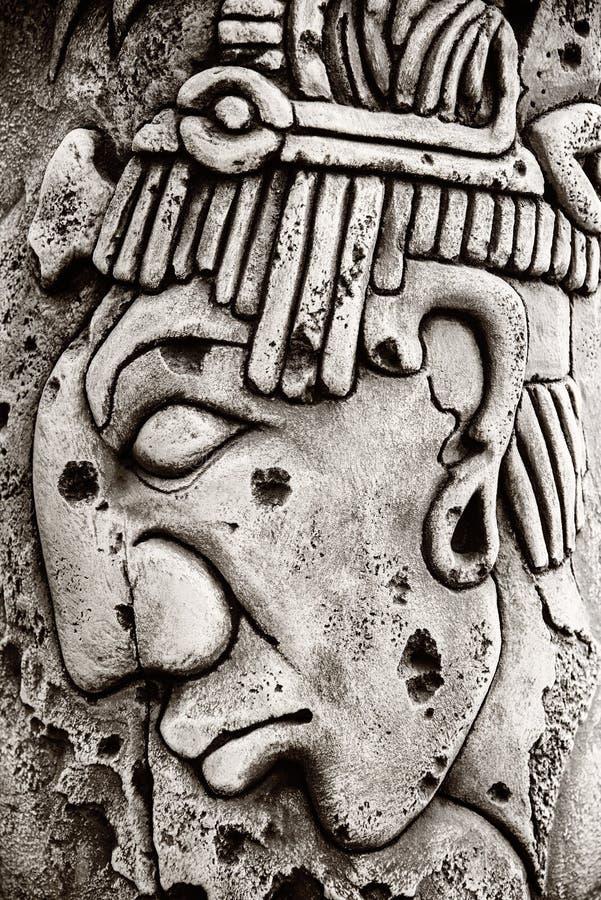 Indiański majski rzeźbiący w kamieniu fotografia stock