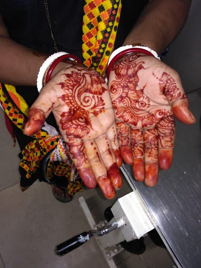 Indiański mehndi projekt fotografia stock