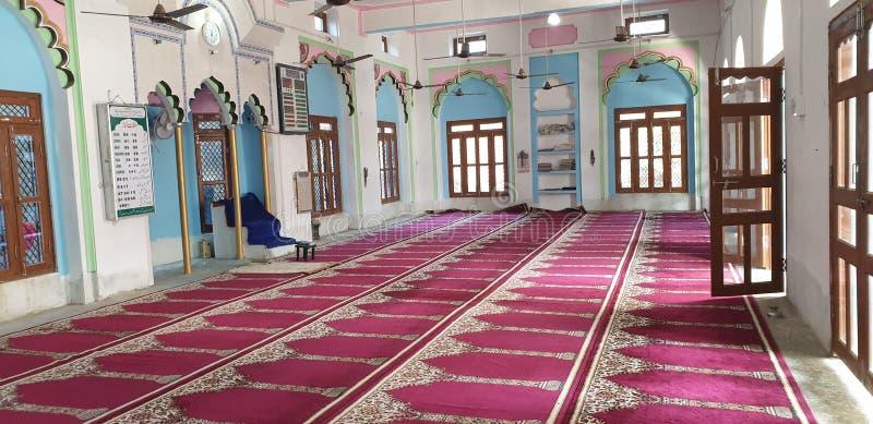 Indiański piękny meczet w wiejskich i miastowych miejscach zdjęcie stock