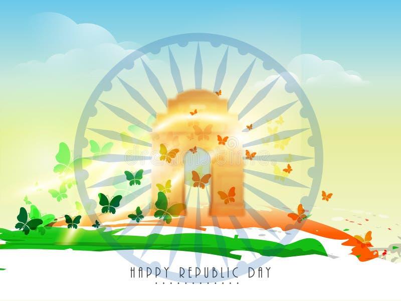 Indiański republika dnia świętowania pojęcie ilustracja wektor