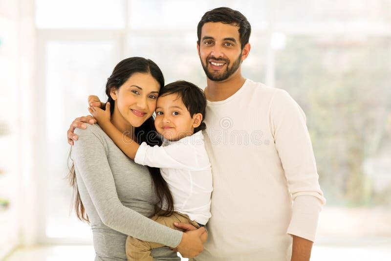 Indiański rodzinny portret obraz stock