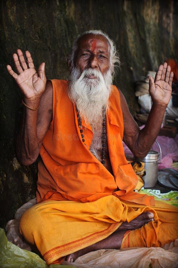 Indiański sadhu obrazy royalty free