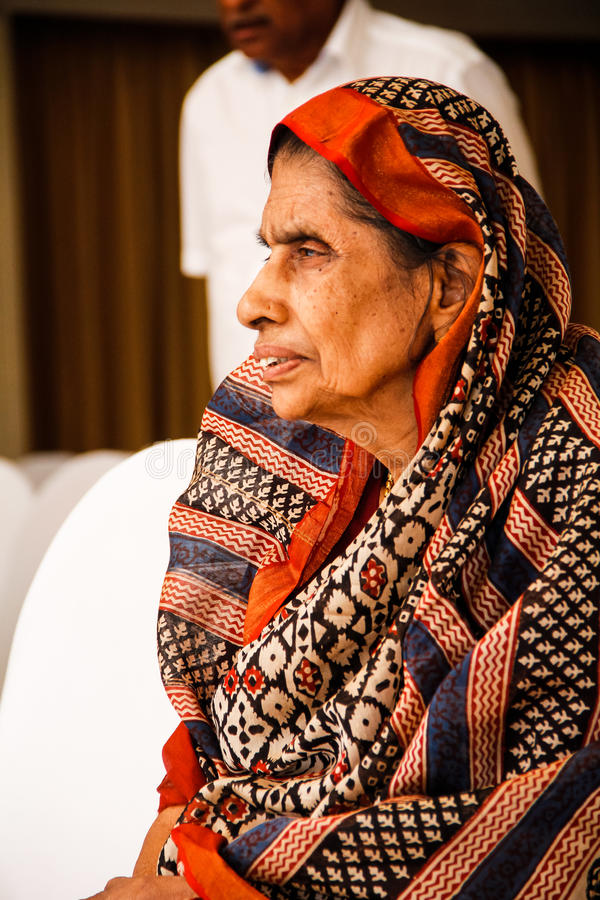 Indiański starej kobiety ` s portret fotografia stock