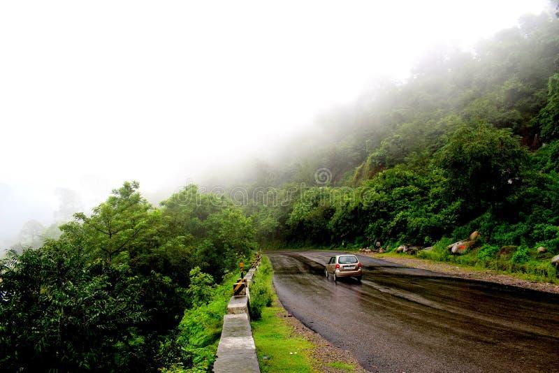 Indiańskie drogi podczas pory deszczowa zdjęcia stock