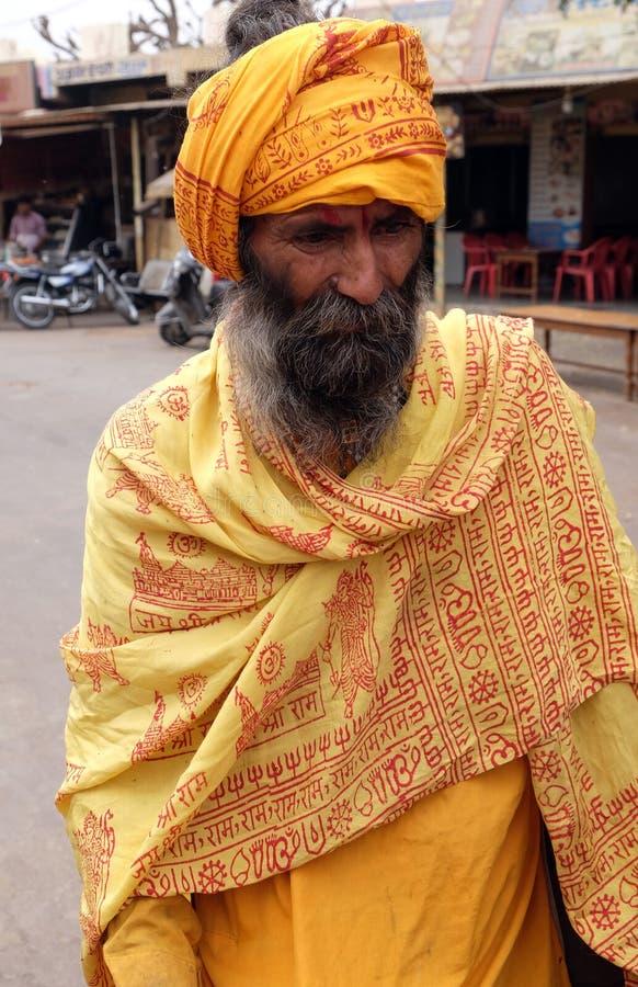 Indiańskiego sadhu święty mężczyzna zdjęcie royalty free