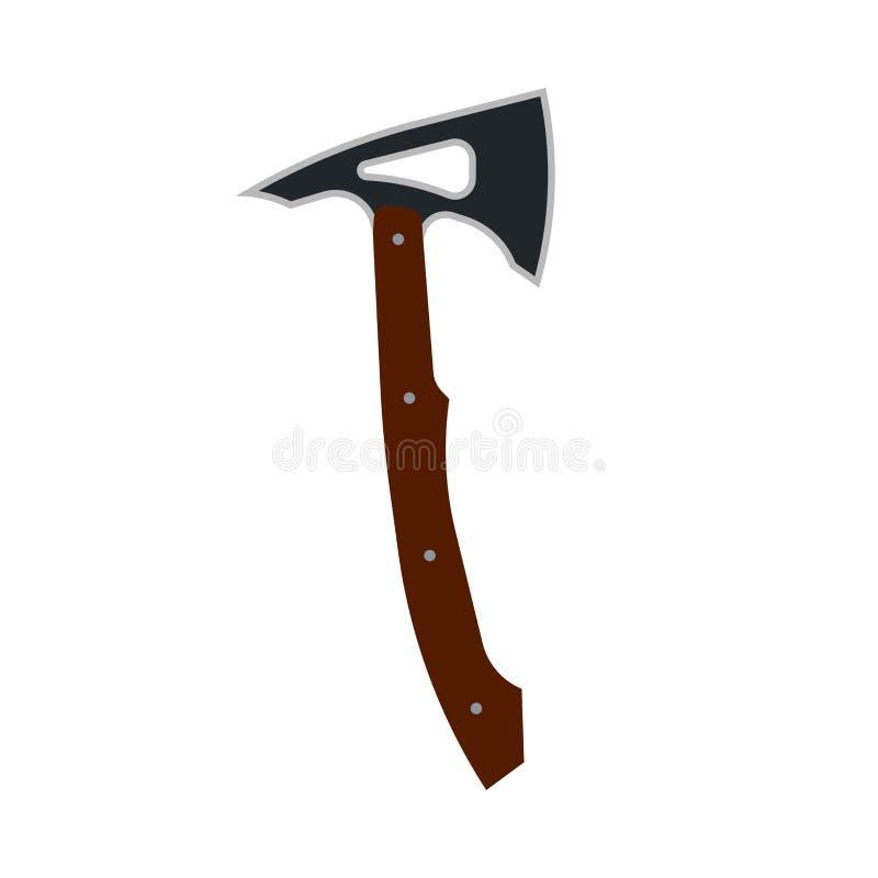Indiańskiej tomahawk cioski ikony wektorowa ilustracja Rodowity Amerykanin plemienna broń Rocznik rękojeści wojownika etniczny os ilustracja wektor