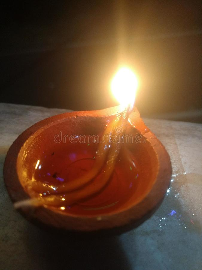 Indiańskiej tradycji festiwalu diwali Hinduska lampa obraz stock