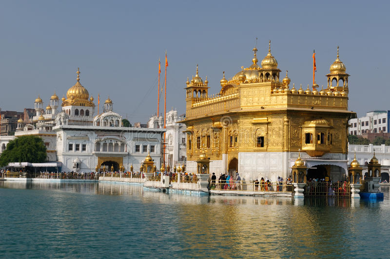 India. Golden temple (Sri Harimandir Sahib) in Amritsar. It is a central religions place of the Sikhs royalty free stock photos